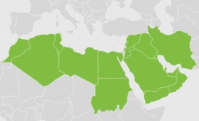 Map of Middle East and North Africa