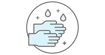Icon showing hand washing