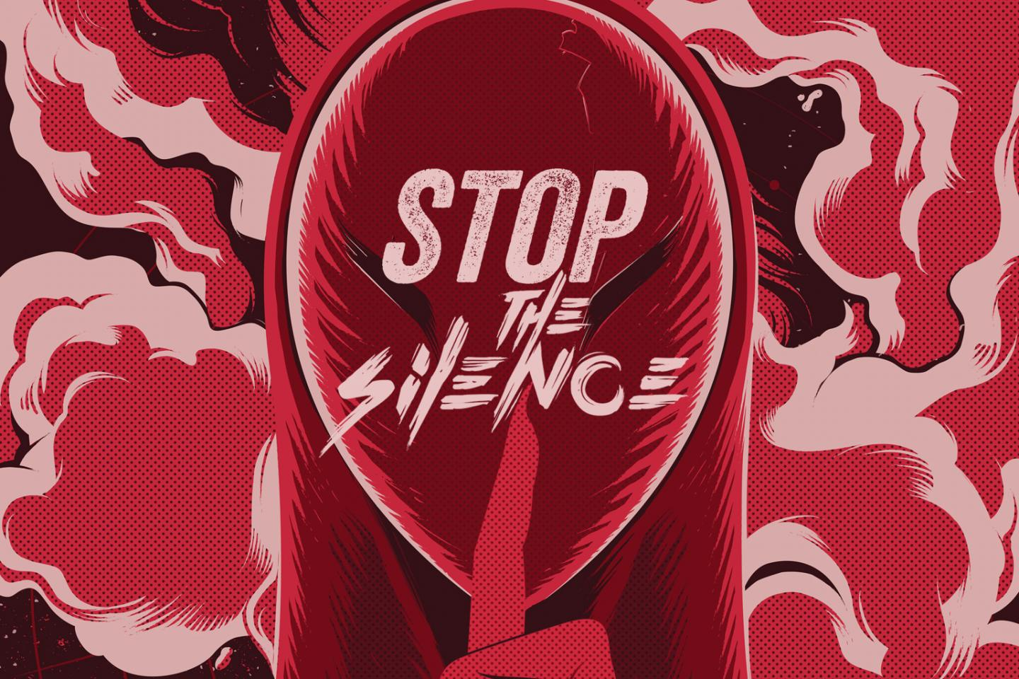 Stop the silence graphic