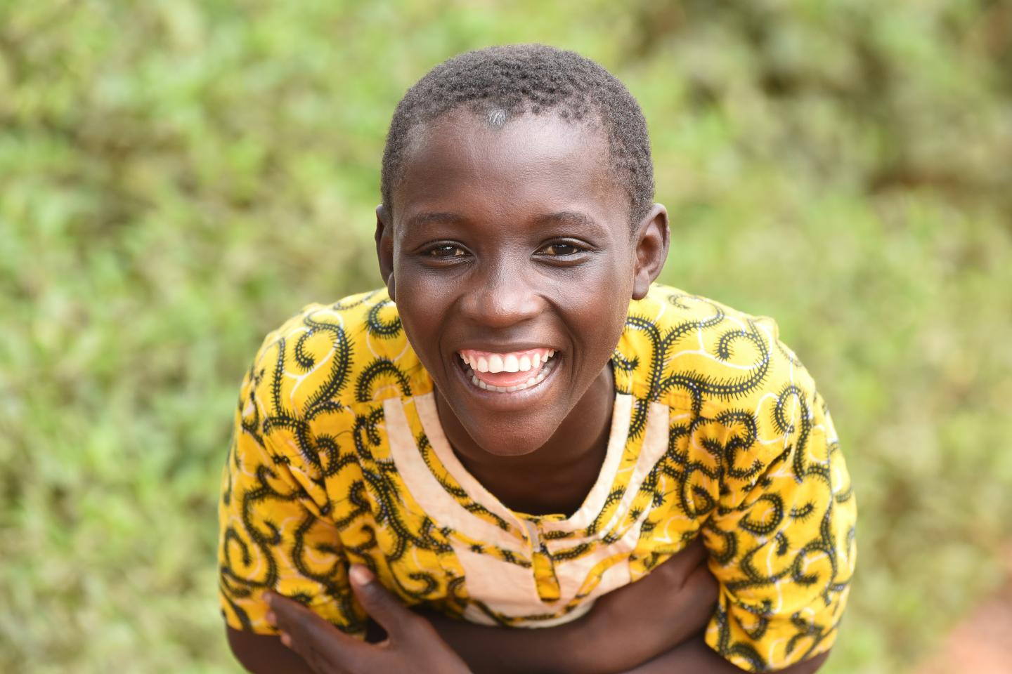 A smiling boy in the village of Zaliohoua, in the West of Côte d'Ivoire.