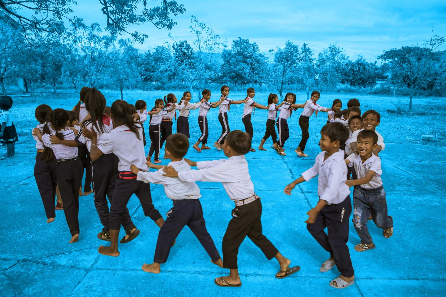 Students of Phuoc Tien A Primary School, Bac Ai Comune, Ninh Thuan.