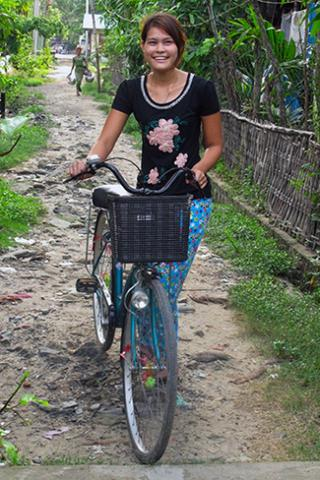 Saw Myat Thu in her town of Maungdaw.