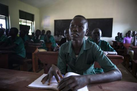 African student in South Sudan