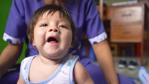 Parenting tips for children with disabilities - a child in Peru