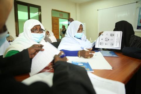 Sudan. Teachers receive information on keeping schools safe during the pandemic.