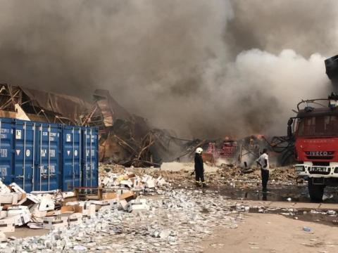 A fire destroyed a UNICEF warehouse in Kinshasa, Friday 7 August 2020