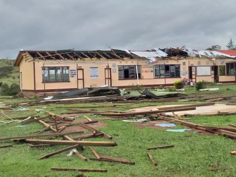 Daku Primary School in Fiji was badly damaged by Tropical Cyclone Yasa.