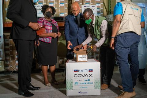 On 14 July 2021, 500,000 doses of COVID-19 vaccines donated by the US government through COVAX landed in Port-au-Prince, the capital of Haiti.