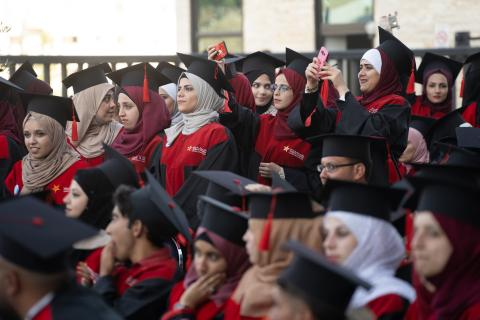 Over 400 Syrian and Jordanian students supported by a UNICEF scholarship graduate from the technical and vocational training programme at Luminus Education. May 09, 2018