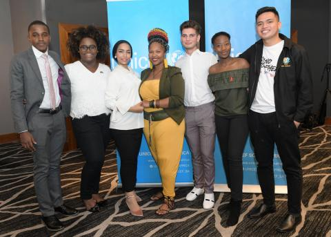 UNICEF Youth Advocates at the UNICEF #ENDviolance drafting of the Youth Manifesto in Sandton South Africa on 1 December 2018.