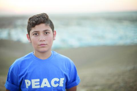 Ahmad, 14, lives in the in the Kawergosk camp for Syrian refugees, just west of Erbil, the capital of Kurdistan Region.