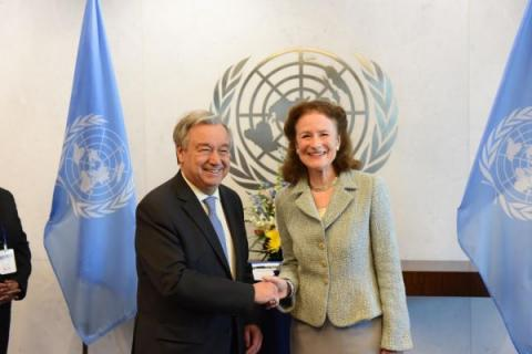 UNICEF Executive Director with UN Secretary General