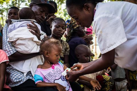 20 January 2018. Kananga, Kasaï region, Democratic Republic of Congo. Saint Martyr Health Clinic during a malnutrition screening.