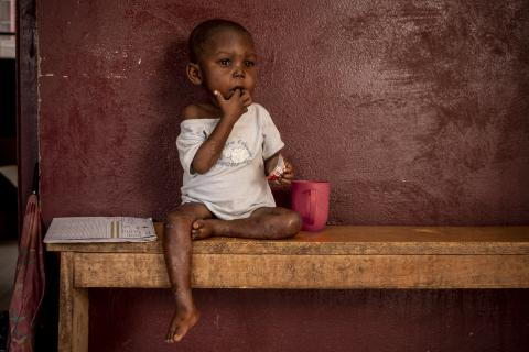 Central African Republic. A child in Bangui