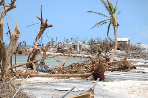 Bahamas. A neighborhood after it was hit by Hurricane Dorian.