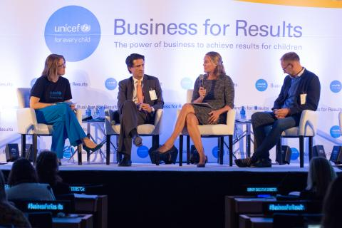 Panelists on business for results special focus session at Executive Board