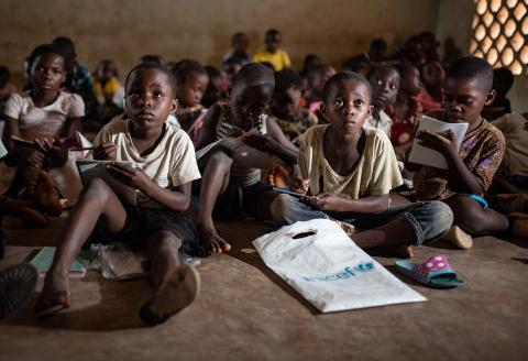 Democratic Republic of the Congo. Children study in a classroom.