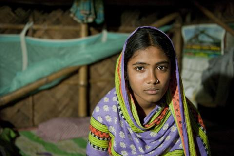 Fatema, 15, in Bangladesh was saved from marriage