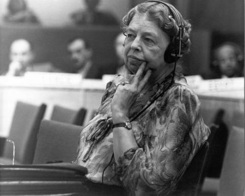Mrs. Eleanor Roosevelt, chief US delegate to the UN Committee on Social, Humanitarian and Cultural Affairs.