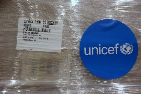 On 28 January 2020 in Copenhagen, Denmark, protective equipment is loaded on a truck at UNICEF's global supply hub in Copenhagen to go to the airport where the cargo will be shipped to China to support the government's response to the coronavirus outbreak. The supplies includes protective suits, surgical masks and respiratory masks.