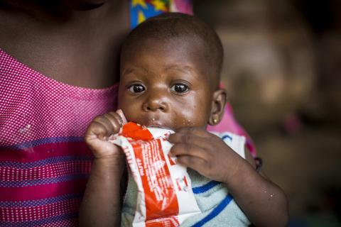 Malnourished child in Mali