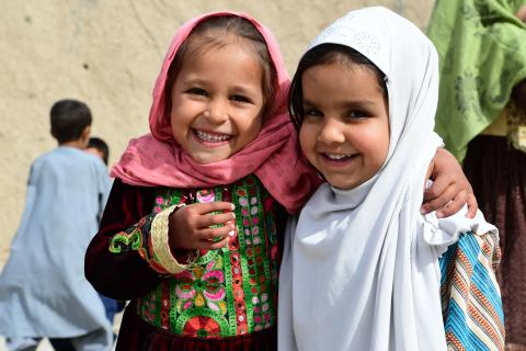 Children at the playground of a Community Based School in Kandahar, in the Southern region of Afghanistan.