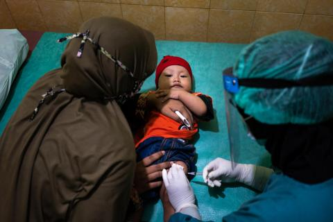 Child vaccination Indonesia