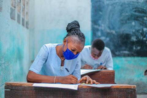 Estudiante en la República Democrática del Congo