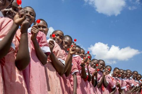 Girls in Narok town, Kenya.