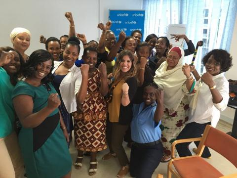 Women owning their inner power after receiving the WSAT (Women Security Training) Tanzania.