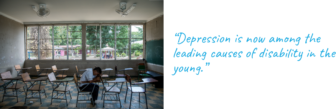 """Depression is now among the leading causes of disability in the young."""