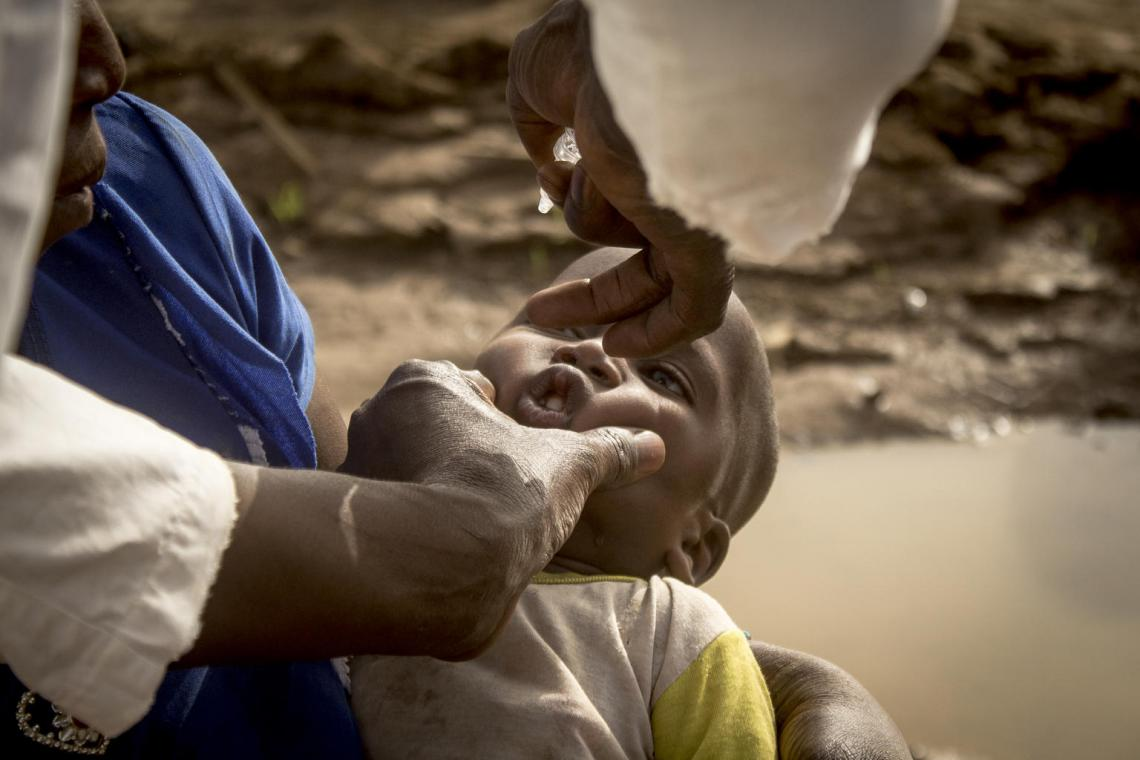 Immunization in Mali: 11-month-old Hachime is vaccinated for the first time