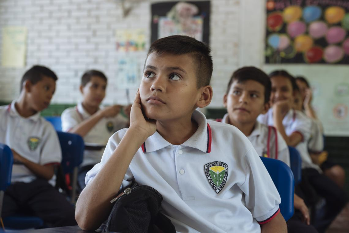 Colombia. Children attend class.