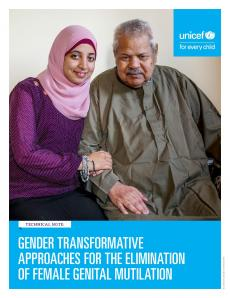 Cover page of the FGM Mainstreaming Gender Equality technical note