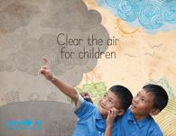 Cover page of clean the air for children report