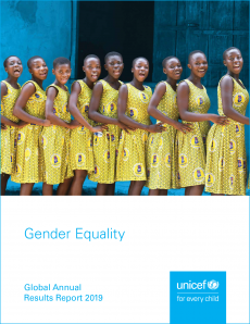 Cover for the Global annual results report 2019 - Gender equality