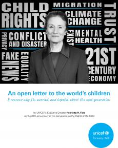 Open letter to world's children 2019 cover