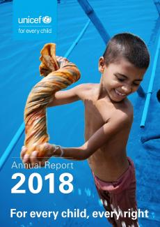 UNICEF Annual Report 2018 cover