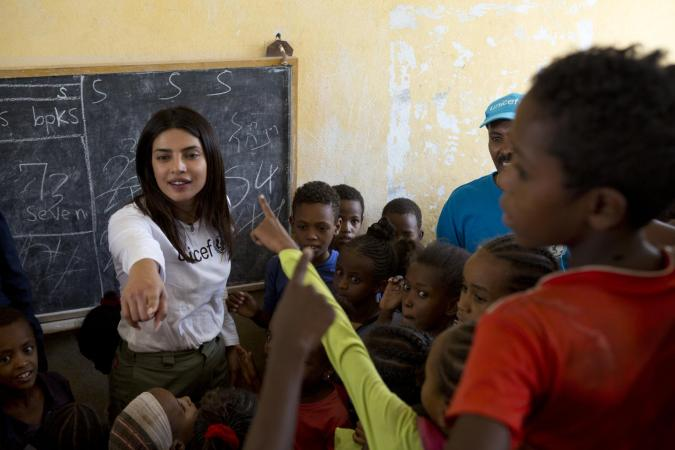 UNICEF Goodwill Ambassador Priyanka Chopra Jonas visited Ethiopia to meet refugee children fleeing conflict and humanitarian crises.