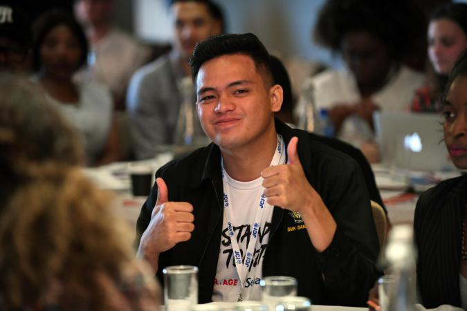 UNICEF Youth Advocate Muhd Saiful Ikhwan bin Musa from Malaysia at the UNICEF #ENDviolence drafting of the Youth Manifesto in South Africa on 1 December 2018.