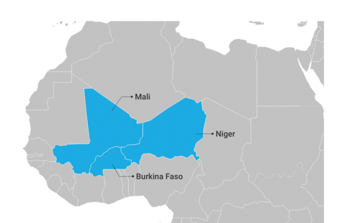 Map of Central Sahel