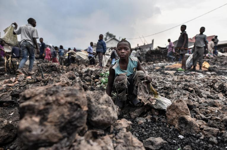 Flowing lava from the volcanic eruption of Mount Nyiragongo, which occurred late on 22 May, UNICEF has reported that more than 150 children have been separated from their families and more than 170 children are feared to be missing as people fled the city of Goma.