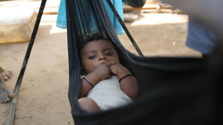 Yemen. A child at a displacement camp.