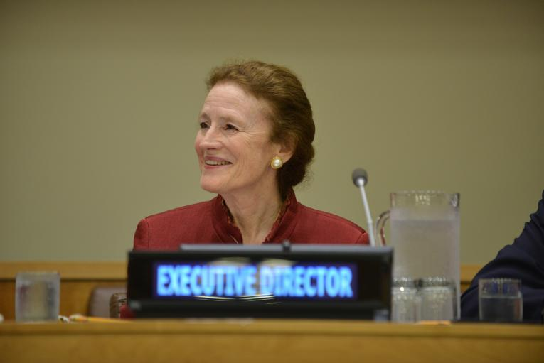 On 12 September 2018 at United Nations Headquarters, UNICEF Executive Director Henrietta H. Fore attends the Second Regular Session of the 2018 UNICEF Executive Board.
