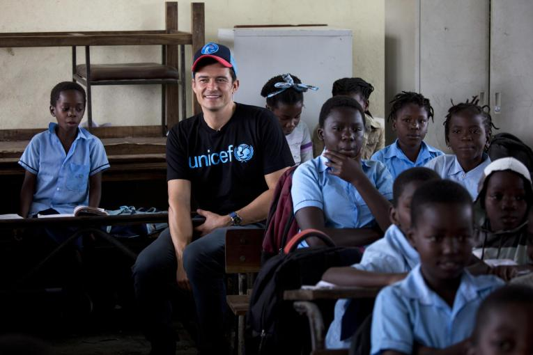 UNICEF Goodwill Ambassador Orlando Bloom visit Mozambique
