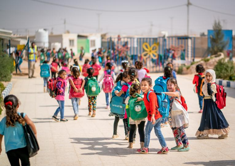 The first generation of children born in Za'atari Refugee Camp on their first day of school