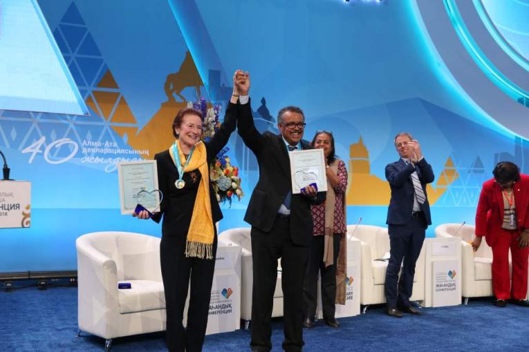 New global commitment to primary health care for all at Astana