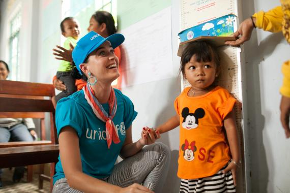 Katy Perry is a UNICEF Good Will Ambassador who is determined to be an advocate for every child