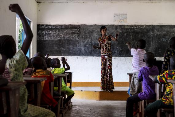 Central African Republic. A classroom in Bambari