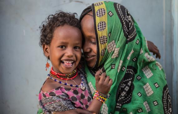 Convention on the Rights of the Child: A girl and her mother in Ethiopia